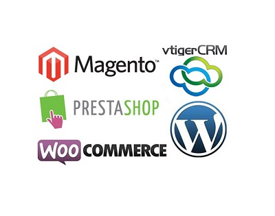 WordPress CMS + Woocommerce + VTiger CRM