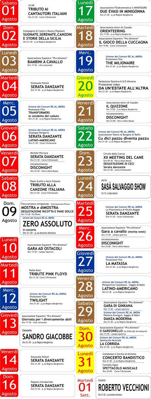 Programma Estate 2009