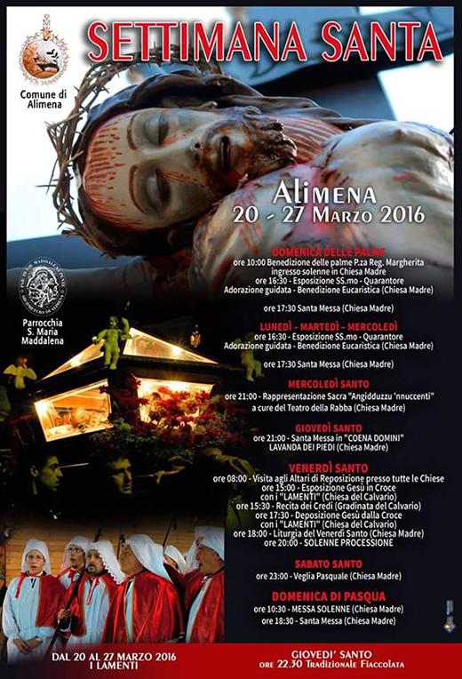 Settimana Santa Alimena 2016