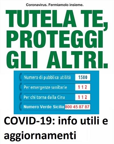 COVID-19: info utili e aggiornamenti